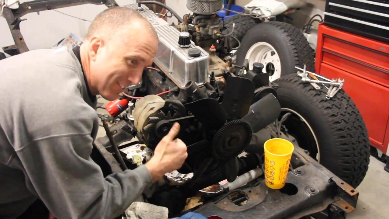 hight resolution of jeep cj7 alternator removal