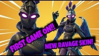 First Game On With The Ravage Skin! (New Ravage Skin Gameplay) (Fortnite Battle Royale)