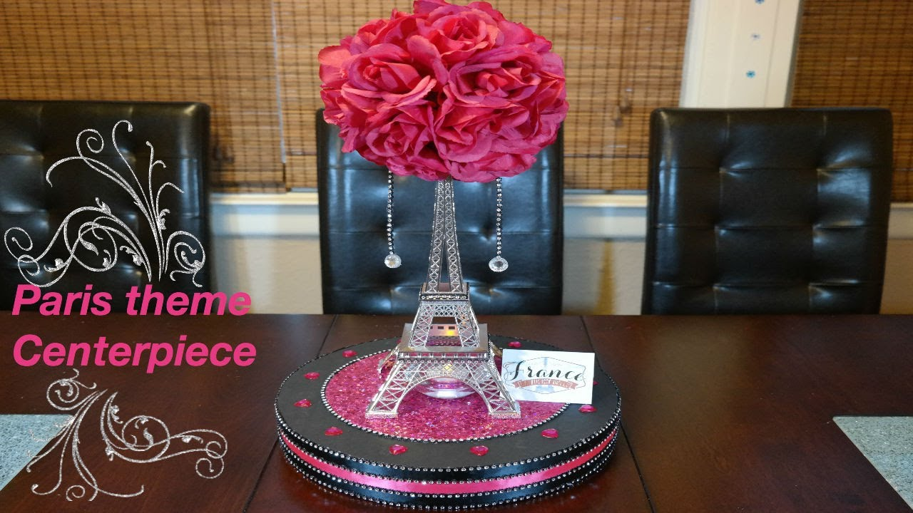 Paris theme eiffel tower centerpiece youtube paris theme eiffel tower centerpiece junglespirit Image collections