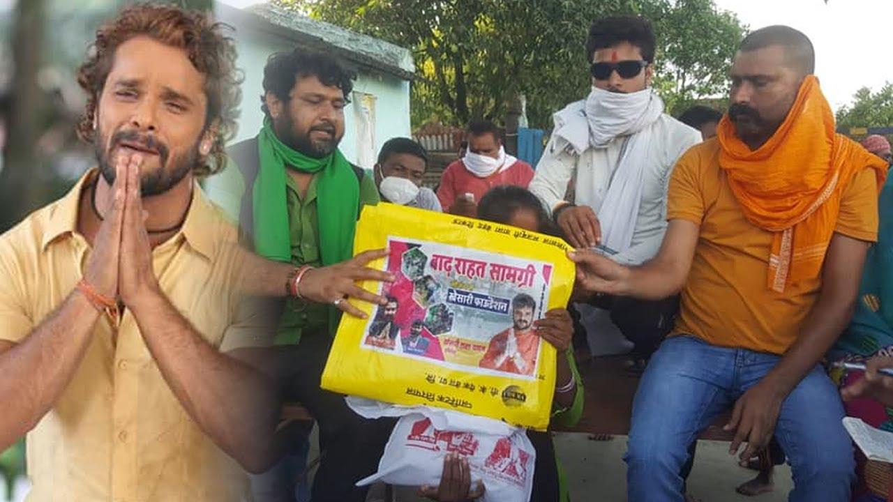Khesari Foundation एक बार फिर बिहार बाढ़ पीड़तों की मदद में सबसे पहले - Khesari Lal Yadav
