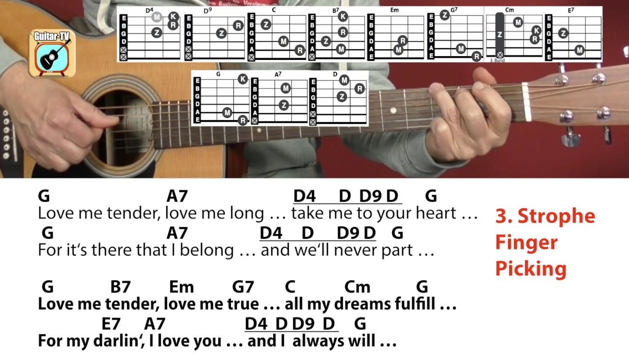 Love Me Tender   Elvis Presley, Cover   Chords   Lyrics   Easy Guitar Lesson
