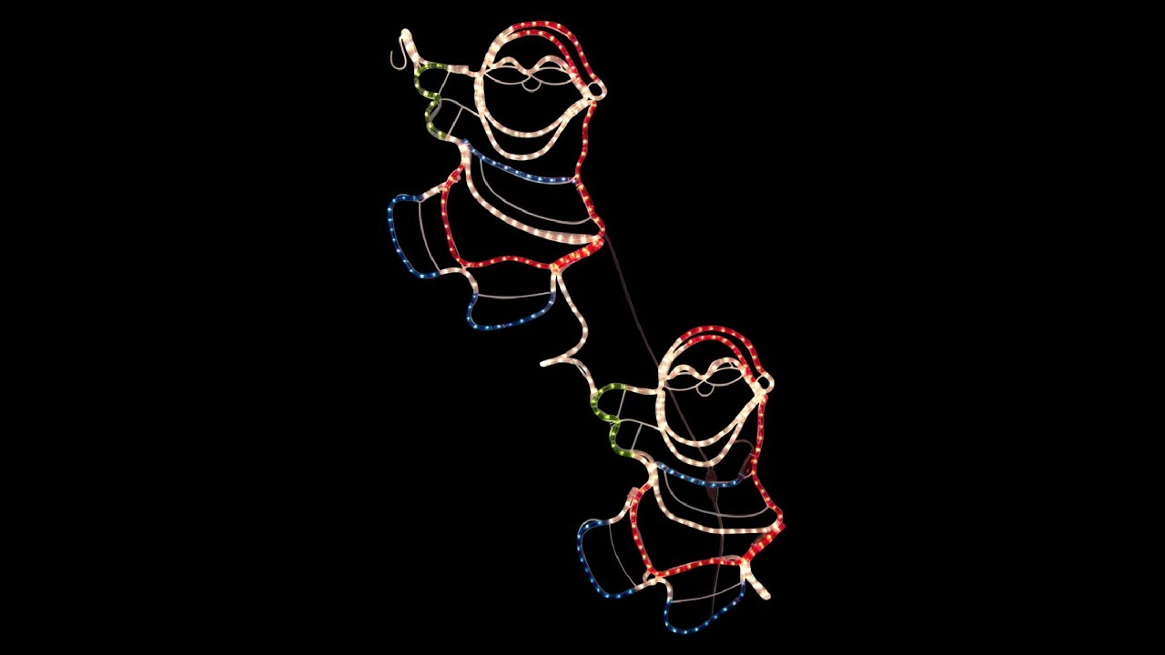 Rope light silhouettes santa climbing rope 18m youtube rope light silhouettes santa climbing rope 18m aloadofball Choice Image