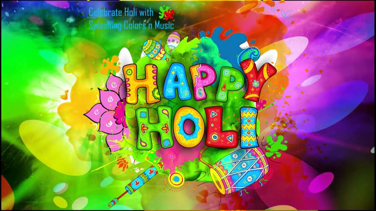 happy holi 2017, wallpaper, animation, gifs, song, whatsapp video