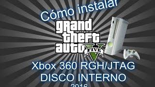 Cómo instalar GTA V xbox 360 RGH/JTAG disco interno 2016