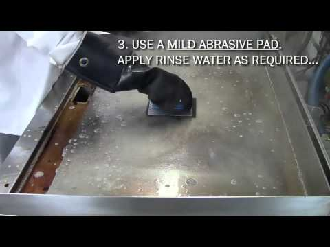 How To Clean a Commercial Griddle.