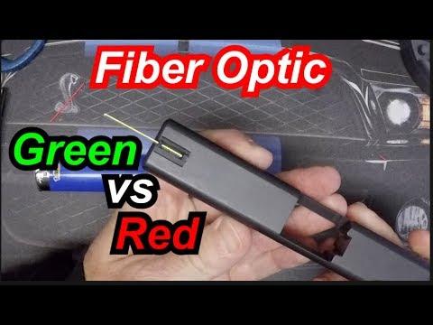 Green vs Red Fiber Optic Front Sight