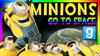 MINIONS GO TO SPACE | Gmod Space Race (Despicable Me, Minions Mod)