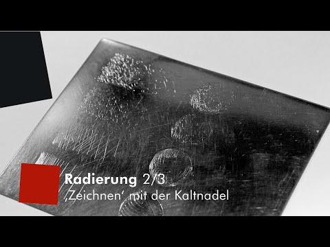 """Kaltnadel-Radierung 2/3: """"Zeichnung"""""""