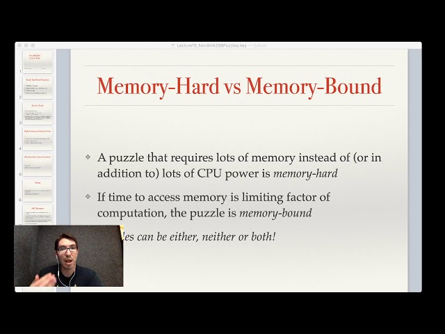 Lecture 14: Non-SHA256 Proof-of-Work