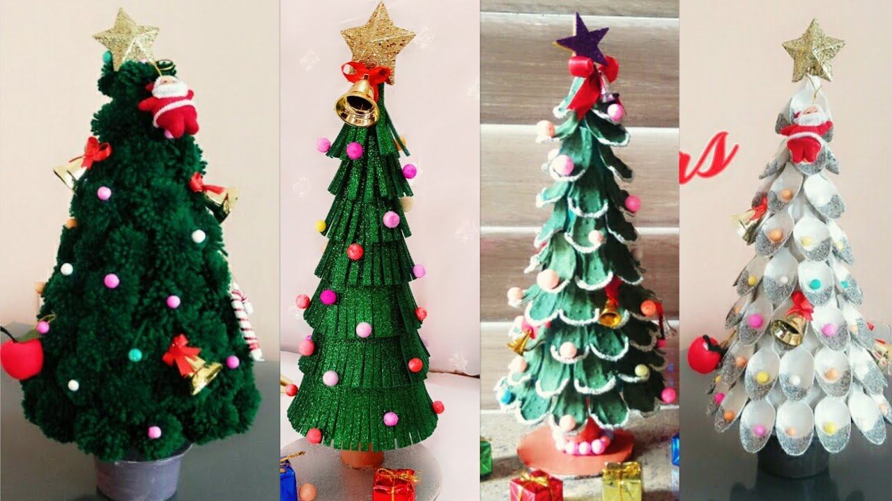4 Easy Diy Christmas Tree Ideas Christmas Tree Making Ideas