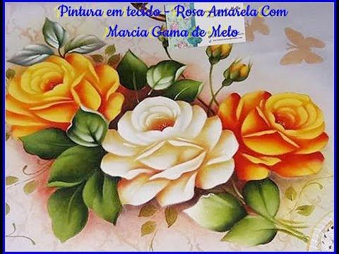 Aprenda HOJE Pintar Rosa Amarela com Márcia Gama de Melo
