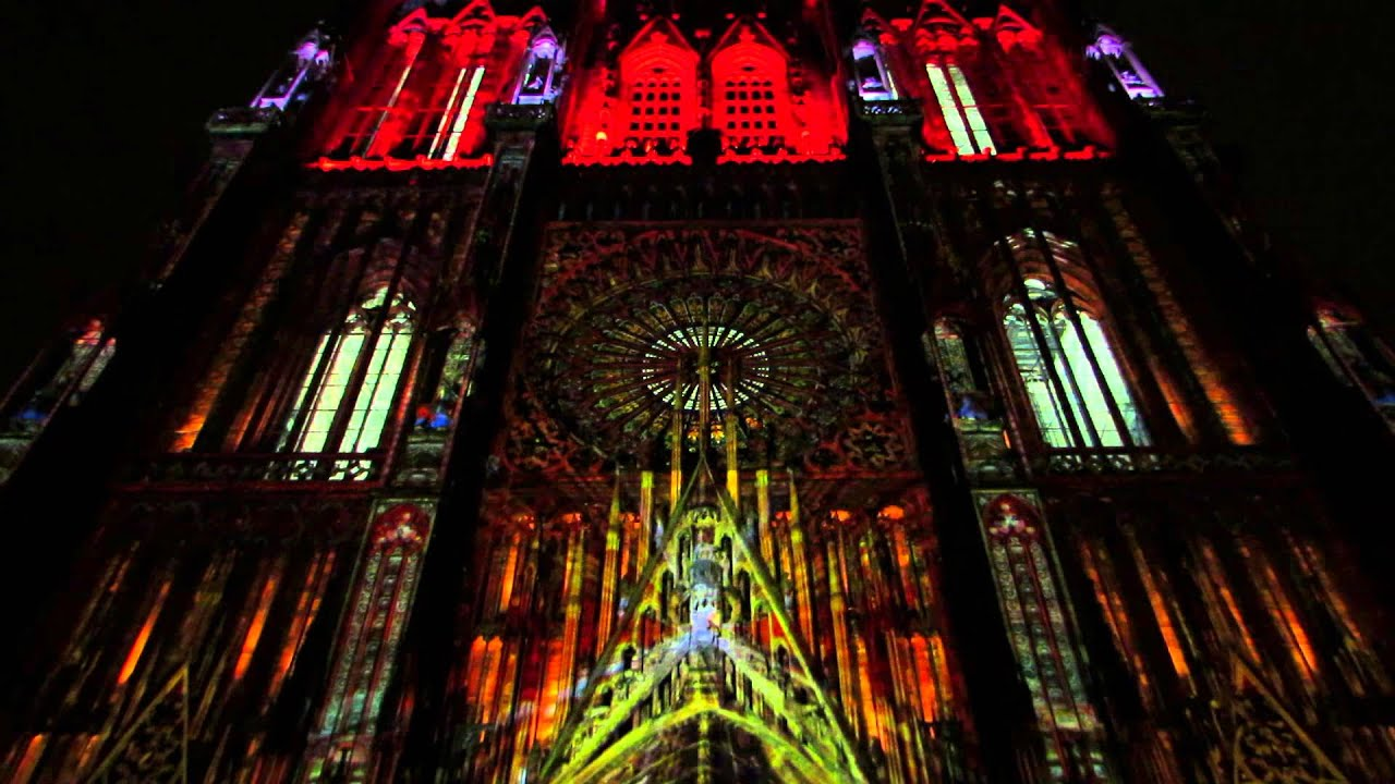 strasbourg illuminations de la cath drale t 2014. Black Bedroom Furniture Sets. Home Design Ideas