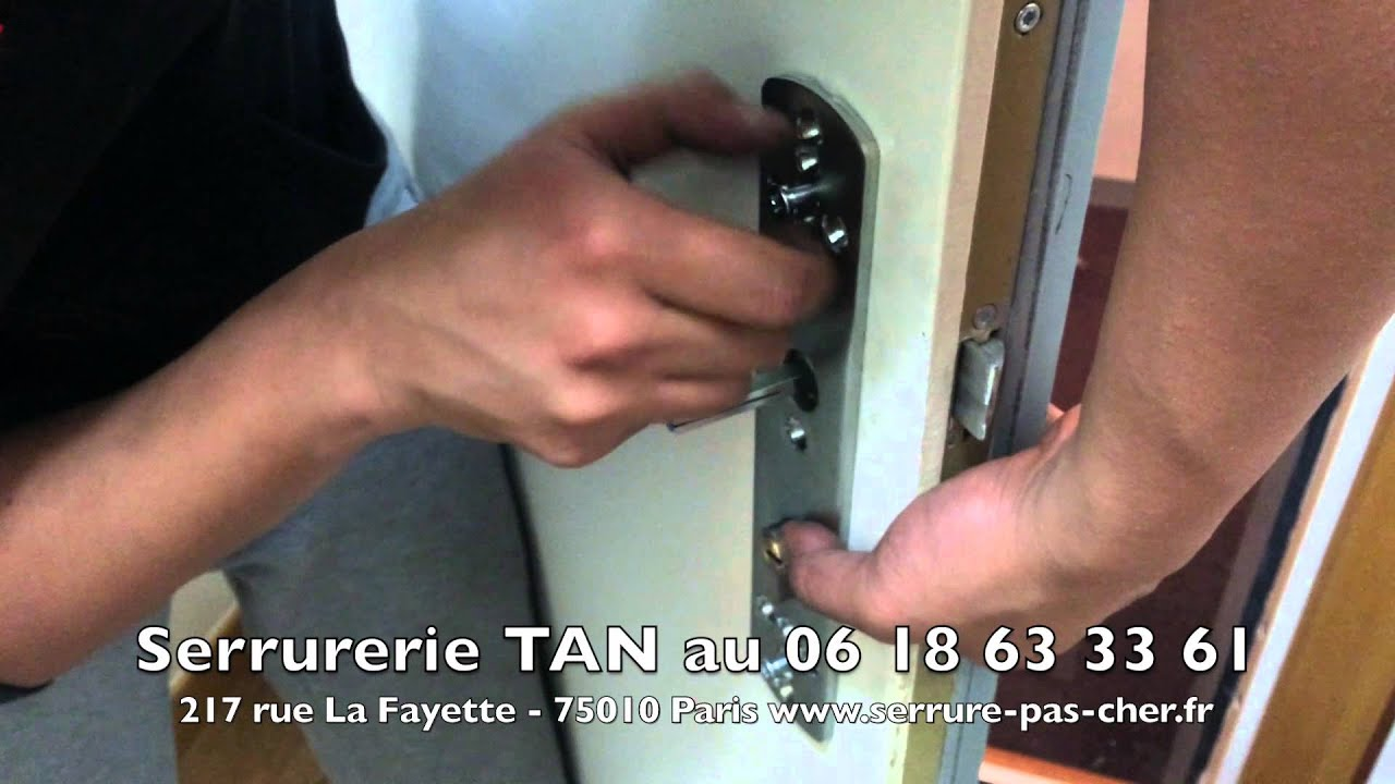 tutoriel comment installer une poignee blindee poignee de porte