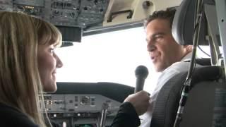 Bombardier Q400 NextGen en route to WestJet for demonstration