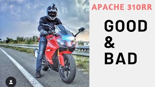 The Good & Bad Apache 310rr | Stunning Panigale looks | LED lights | Honest Opinion