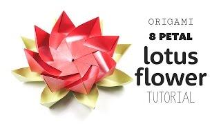 Origami 8 Petal Modular Lotus Flower