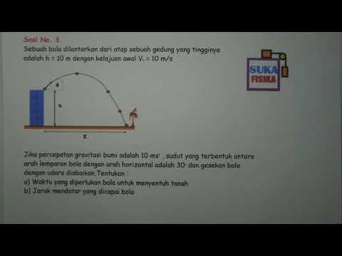 Gerak Parabola (mencari waktu dan jarak)-Fisika SMA
