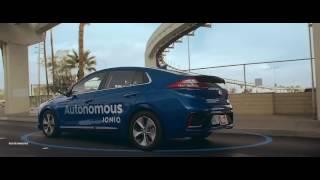 NEW Hyundai Ioniq Autonomous Test Drive 2017
