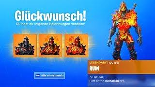 All levels of THE RUIN SKIN FREE! (Fortnite)