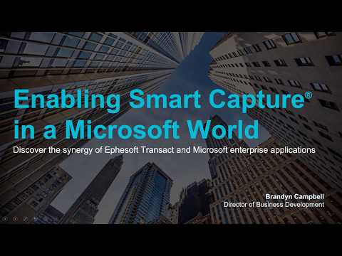 Enabling Smart Capture in a Microsoft World | Ephesoft