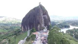 Flying above Piedra del Peñol - Guatape, Antioquia, Colombia - South America From Above -DJI Phantom