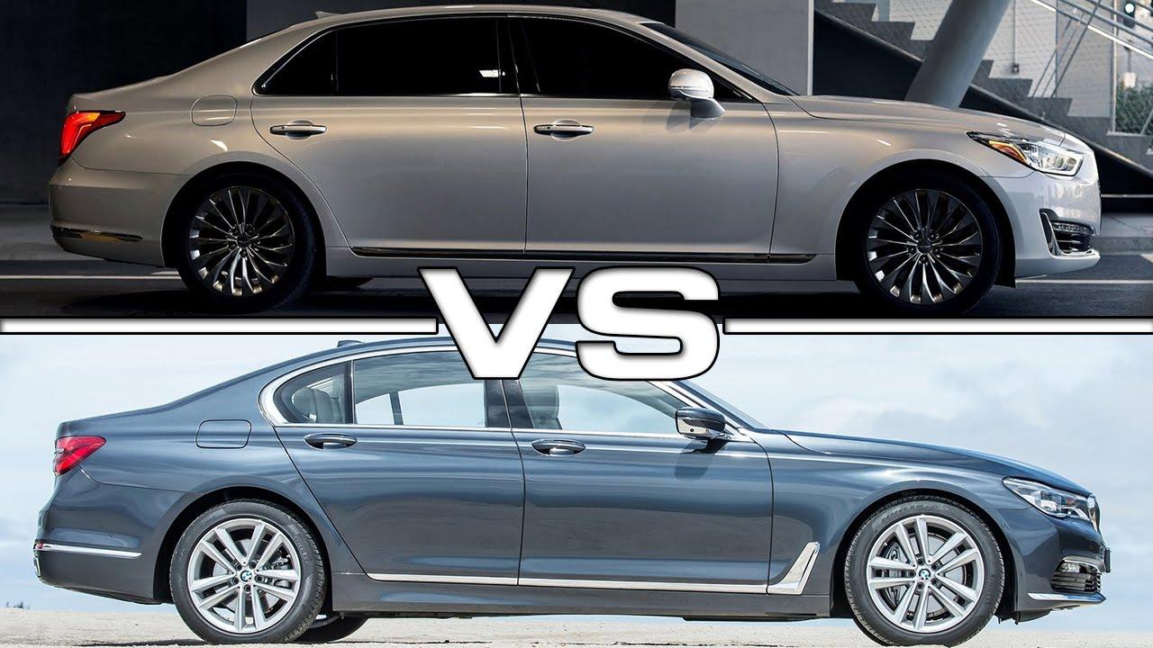 Hyundai Genesis G90 vs BMW 7 Series - YouTube