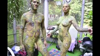 Repeat youtube video NSFW Nature Nourishes Male and Female Body Paint
