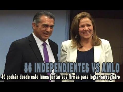 """40 independientes inician este lunes """"maratón"""" de firmas para candidatura presidencial"""