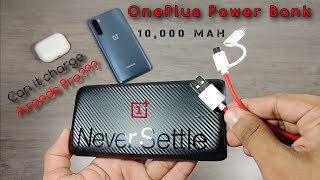 OnePlus Power Bank Unboxing And Review 10 000 mAh Charging Test With Apple Airpods Pro