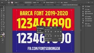 Chia sẻ font fc barcelona 2019-2020 ...