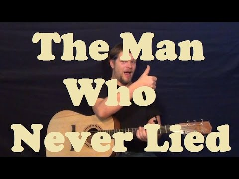 The Man Who Never Lied (Maroon 5) Guitar Lesson Easy Strum Chord How to Play Tutorial