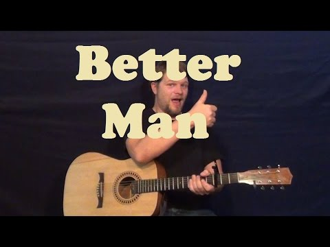 Better Man (Pearl Jam) Easy Guitar Lesson Strum Chords How to Play Batter Man Tutorial