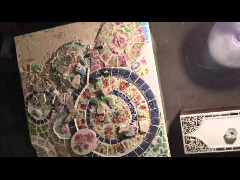 How to re-make a broken china mosaic vanity - part 1