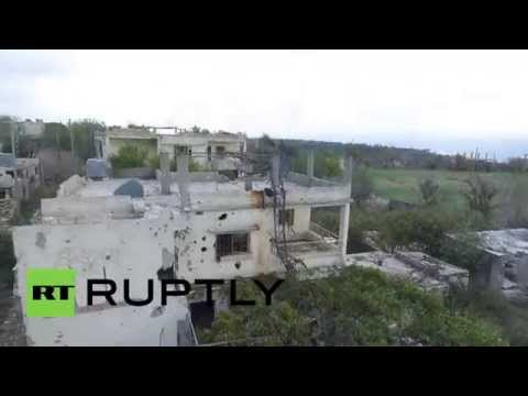 Syria: Drone footage captures Syrian army advance in Latakia Governorate
