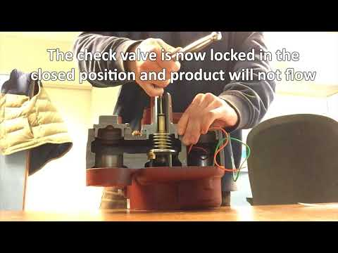 Red Jacket Check Valve Lock and Release