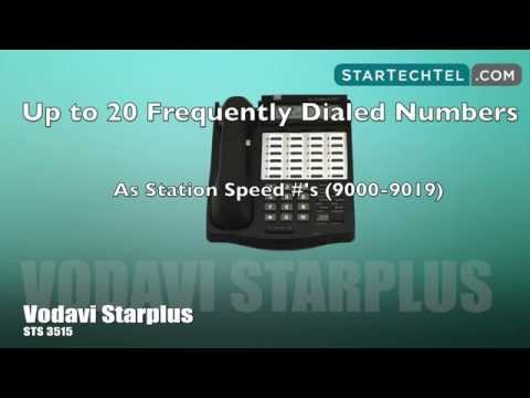 How To Program & Use Speed Dial On The Vodavi Starplus STS 3515 Phone