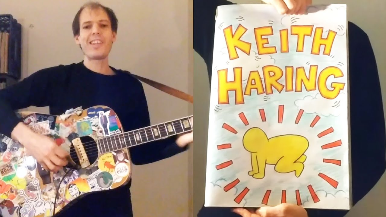 A Short Biography of Keith Haring Told with a Comic Book Illustrations & Music