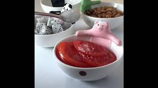 귀여운 동물 캐릭터 접시 도자기 식기 플레이팅 시리얼 …
