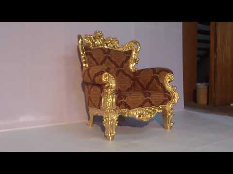 Baroque Sofa - Luxury Gold Leaf Baroque Furniture | VIXIDesign.com
