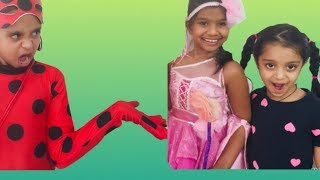 Magical fairy and Ladybug girl helps Vaishu ft. Riyarts corner / Funny kids video