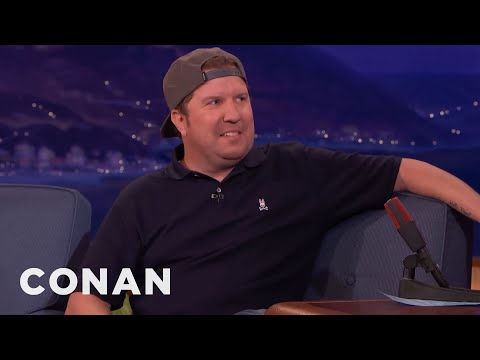 Nick Swardson Learned Not To Get Cocky Around Fire   CONAN on TBS