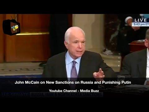 John McCain on New Russia Sanctions and Punishing Putin 7/27/17