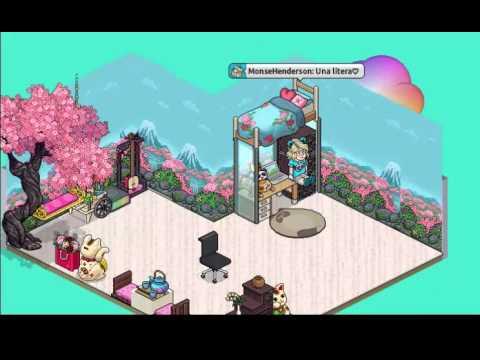 Habbo kekos decoraciones cuarto youtube for Habbo decoraciones
