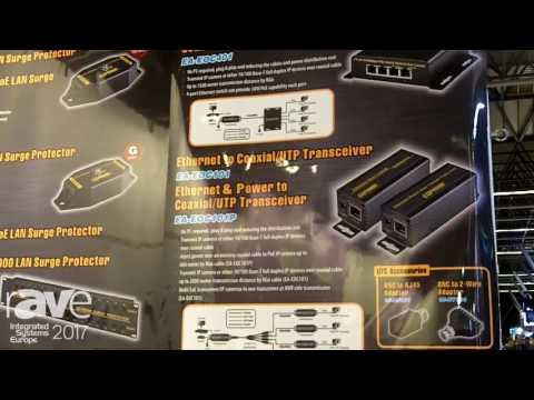 ISE 2017: Shenzhen Mansion Electronic Co Displays EA-EOC401 Ethernet Over Coaxial Transceiver