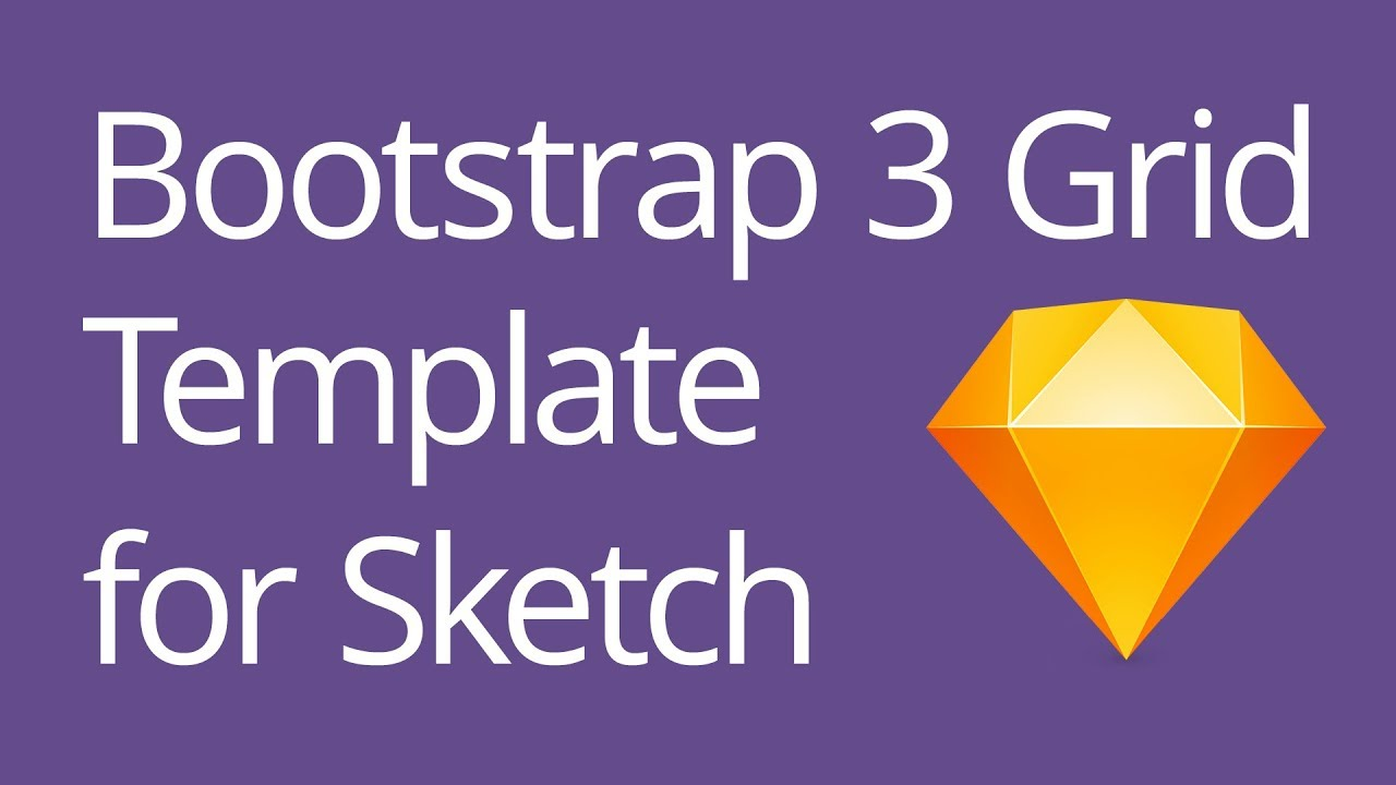 Bootstrap 3 Grid Template for Sketch Tutorial - YouTube