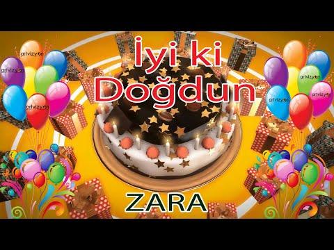 İyi ki Doğdun - ZARA - Tüm İsimler'e Doğum Günü Şarkısı