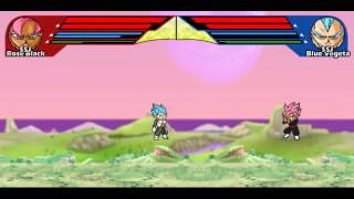 DBZ Ultimate Power 2 - SSJB Goku & Vegeta VS SSJR Black & Zamasu