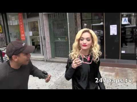 (Exclusive) Rita Ora leaving a office building in New York City