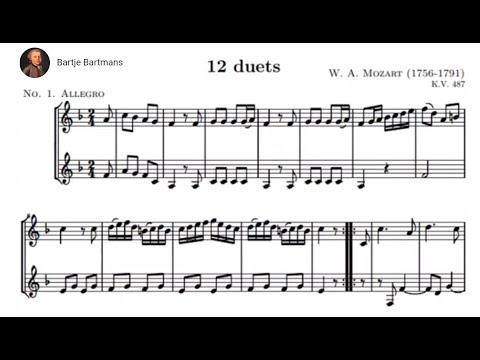 Mozart - 12 Horn Duos (Nos. 1-3), K.487/496a (1786)
