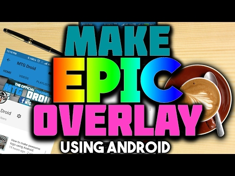 how to make a overlay for youtube